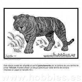 El tigre zentangle