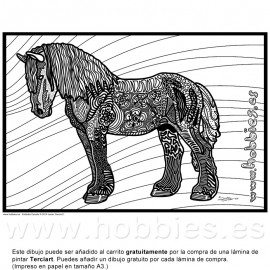 Percherón Zentangle